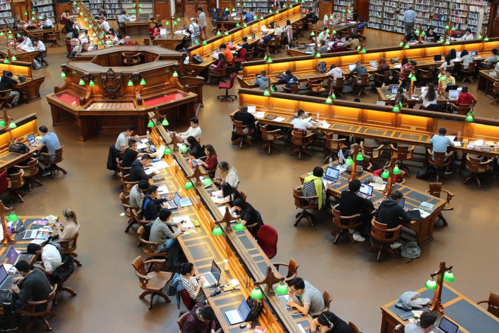 productivity booster - work at a library - Mission Marketing Today